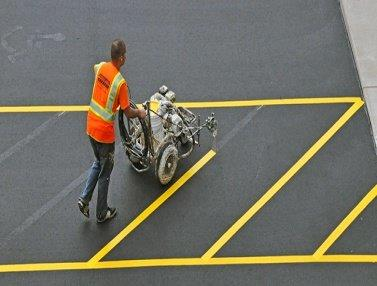 Striping contractor